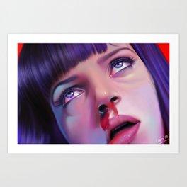 Mia Wallace - Pulp Fiction Art Print