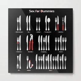 Sex for Dummies Metal Print