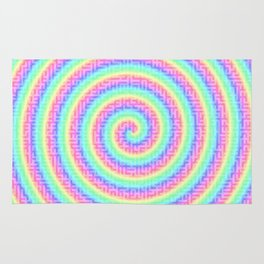 The magic of the colorful maze Rug