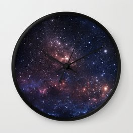 Stars and Nebula Wall Clock