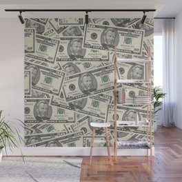 Collage of Currency Graphic Wall Mural