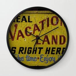 Staycation Wall Clock