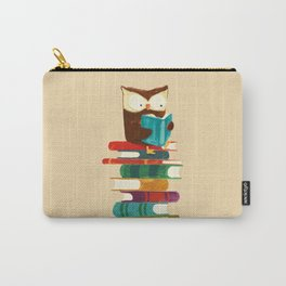 Owl Reading Rainbow Carry-All Pouch