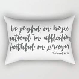Romans 12:12 Rectangular Pillow