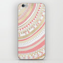 Coral + Gold Tribal iPhone Skin