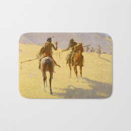 "Frederic Remington Western Art ""The Parley"" Bath Mat"