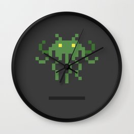 Cthulhu Invader Wall Clock