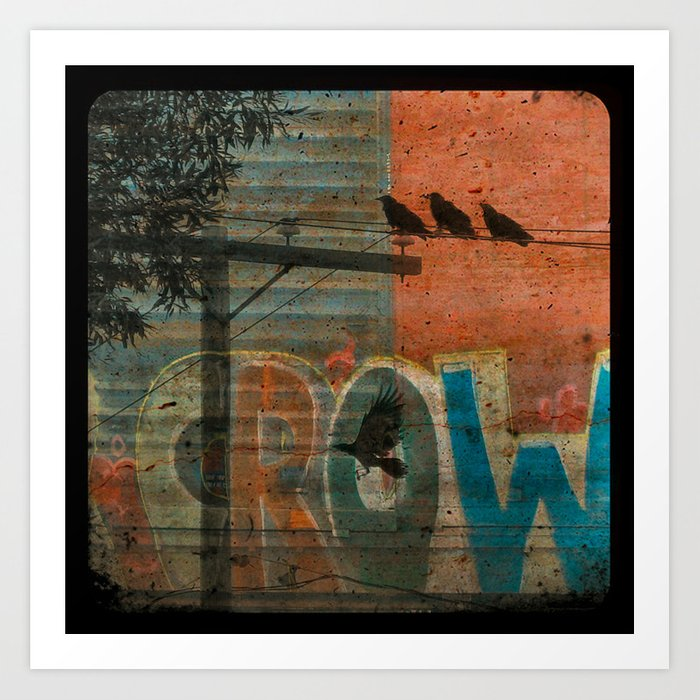 Crow train Art Print