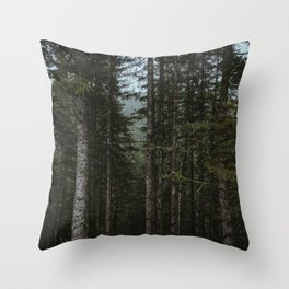 Oregon Trees Throw Pillow