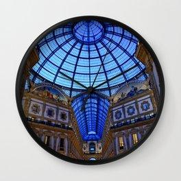 Shoping in Milan Wall Clock
