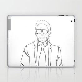 Karl Lagerfeld portrait Laptop & iPad Skin