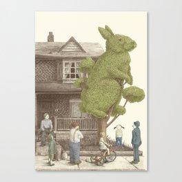 The Night Gardener - Rabbit Tree Canvas Print