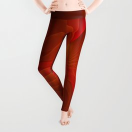 Much Warmth, Abstract Fractal Art Leggings