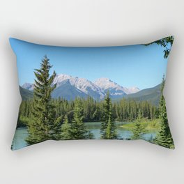 Along The Bow Valley Parkway Rectangular Pillow
