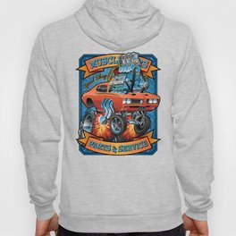 Classic Sixties Muscle Car Parts & Service Cartoon Hoody