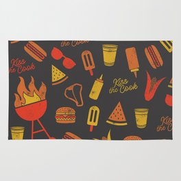 Kiss the Cook - Dark Palette Rug