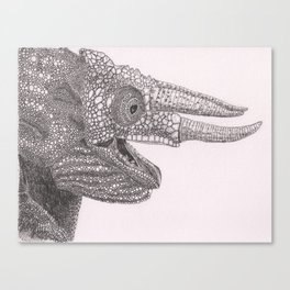Happy Chameleon (pen and ink) Canvas Print