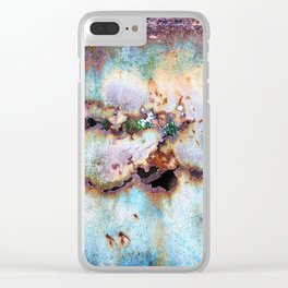 Rainbow Rust Clear iPhone Case