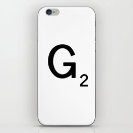 Letter F - Custom Scrabble Tile Letter Art - Scrabble F iPhone Skin
