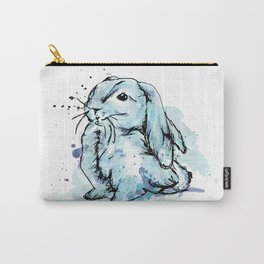 Blue rabbit Carry-All Pouch