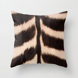 Zebra - zebra stripes -zebra skin - genuine - beautiful - #society6 #buyart Throw Pillow