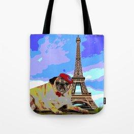 A Pug in Paris Tote Bag