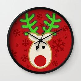 Rudolph the Reindeer Wall Clock