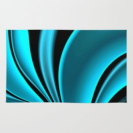 Abstract Fractal Colorways 02 Pacific Blue Rug