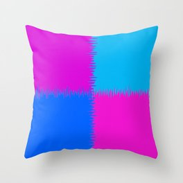 QUARTERS #1 (Blue, Purples & Fuchsias) Throw Pillow