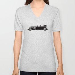 Retro Cadillac car pattern Unisex V-Neck