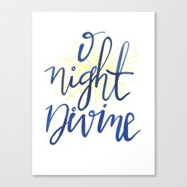 O Night Divine Canvas Print