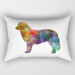 Nova Scotia Duck Tolling Retriever in watercolor Rectangular Pillow