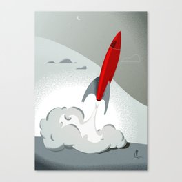 Blast Off (Tommy & The Rocket) Canvas Print