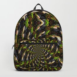 White Bud Pattern Backpack