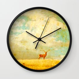 Vintage Stag Wall Clock