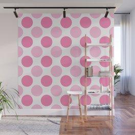Pink polka dots Wall Mural