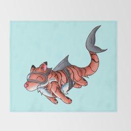 Tiger Shark Throw Blanket