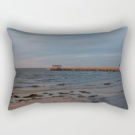 Bokeelia Pier at Sunset Rectangular Pillow