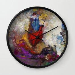 """Odilon Redon """"La roue de la fortune"""" Wall Clock"""
