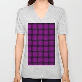 Large Purple Violet Weave Unisex V-Neck