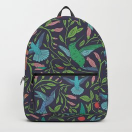 Hummingbirds and Hibiscus Backpack