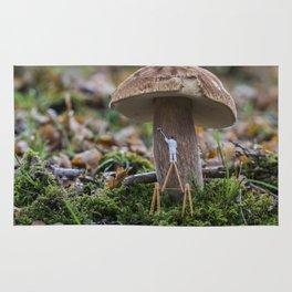 little world painter , painting mushroom Rug