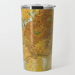STILL LIFE: VASE WITH TWELVE SUNFLOWERS - VAN GOGH Travel Mug