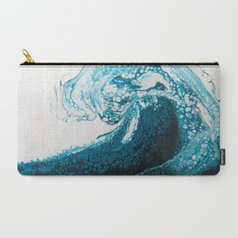 Ocean Wave Acrylic Pour Carry-All Pouch