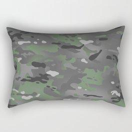 Camouflage: Arctic Green and Grey Rectangular Pillow