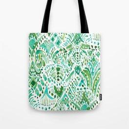 GETTIN' TURT Green Aqua Sea Turtle Tribal Tote Bag