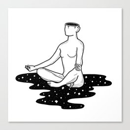 Space Girl Does Yoga Canvas Print