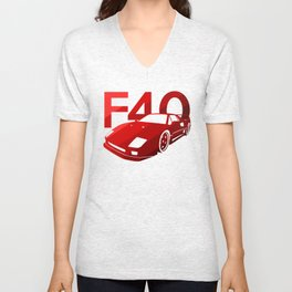 Ferrari F40 - classic red - Unisex V-Neck