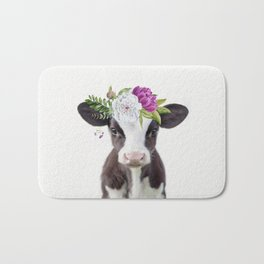 Baby Cow with Flower Crown Badematte