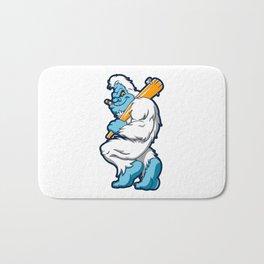 Baseball sasquatch Bath Mat